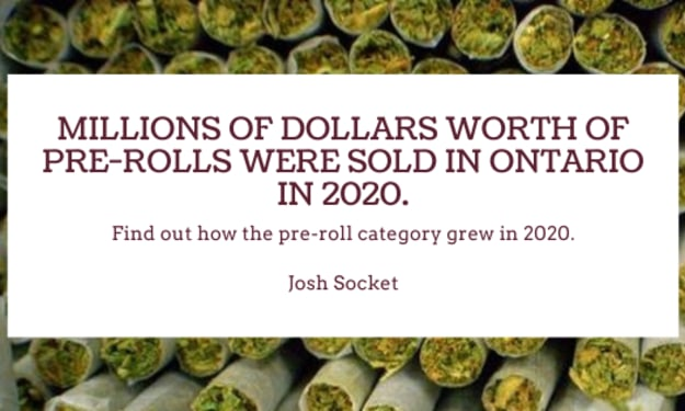 Millions of dollars worth of pre-rolls were sold in Ontario in 2020.