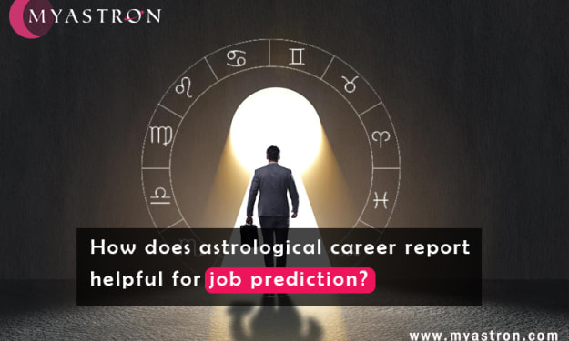 How does astrological career report helpful for job prediction?