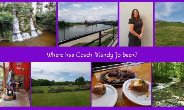 Where has Coach Mandy Jo been?