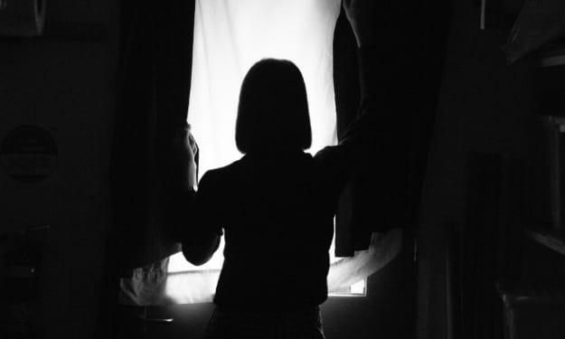 silhouette in the dark