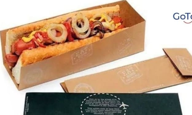 Hot Dog Boxes packaging with a printed logo at GoToBoxes