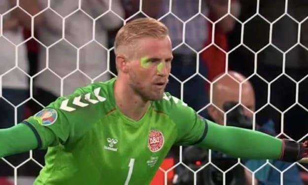 Uefa Books England After Laser Gun