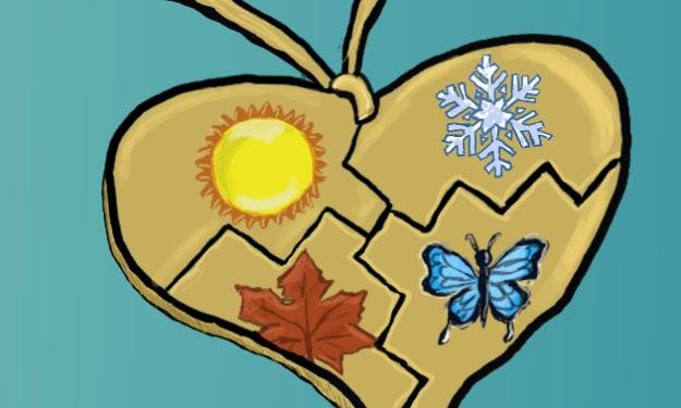 Seasons Bloom In A Heart Shape Locket