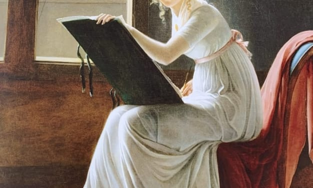 Portrait of Charlotte du Val d'Ognes by Marie-Denise Villers