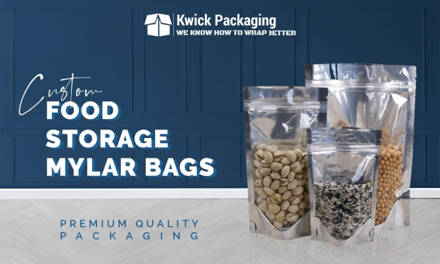 Try Custom Food Storage Mylar Bags to Keep the Food Products Save for Long Period