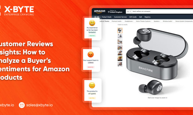 Customer Reviews Insights: How to Analyze a Buyer's Sentiments for Amazon Products