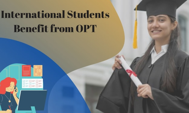 How do international students benefit from OPT?