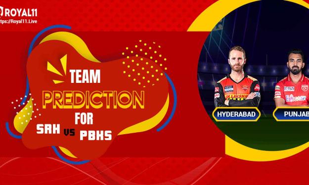Prediction and Fantasy Team formation for SRH vs PK