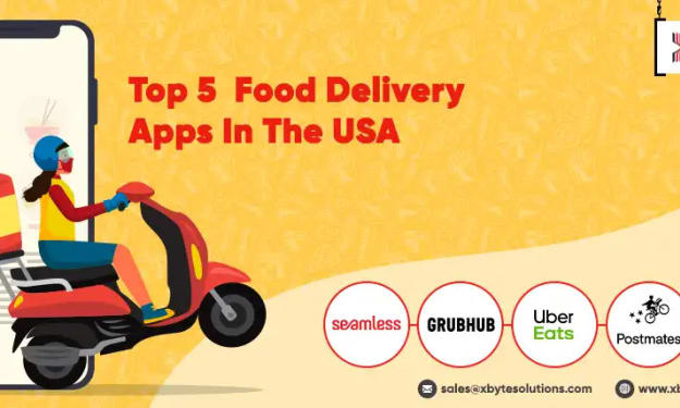 Which are The Top 5 Food Delivery Apps in The USA?