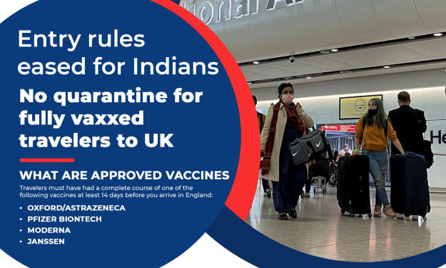 Latest Oct 2021 Entry rules eased for Indians in the UK