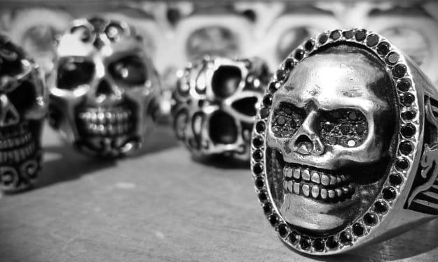 Silver Skull Rings for Men & Women
