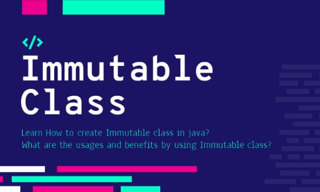 Create An Immutable Class In Java