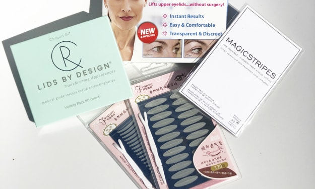 Comparison of Top Eyelid Tape Brands with Contours Rx
