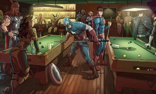"Cinematic ""Vs"" Comic-Book Universes"