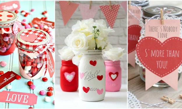 Easy DIY Valentine's Day Mason Jar Gift Ideas