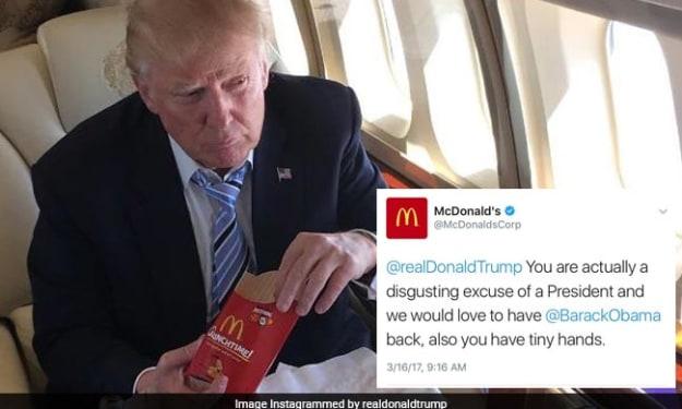 McDonald's Tweets President Trump Is 'Disgusting', Claims Hack Job
