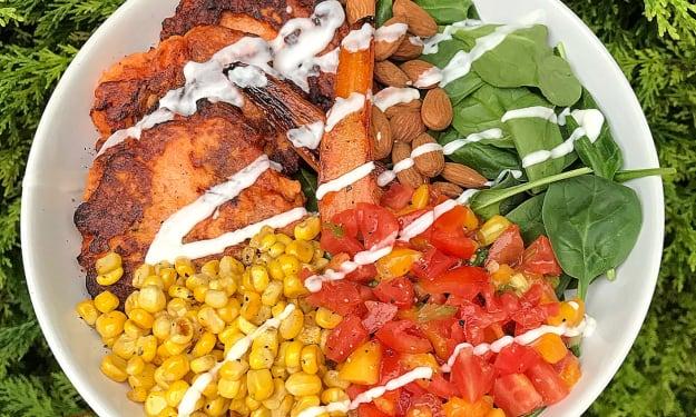 Vegetarian Mexican Salad Bowl