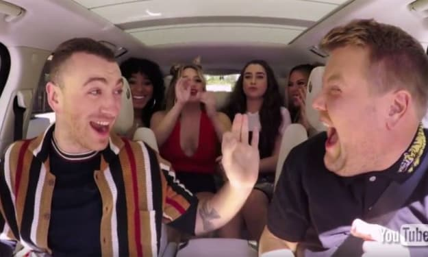 Fifth Harmony Surprises and Sings with Sam Smith and James Corden