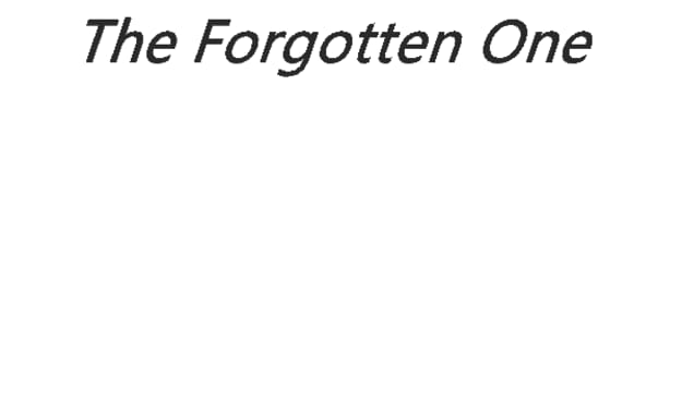 The Forgotten One (Ch. 3)
