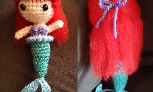 DIY Crochet Pattern for Ariel Inspired Doll