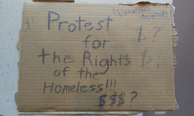 Protest for the Rights of the Homeless