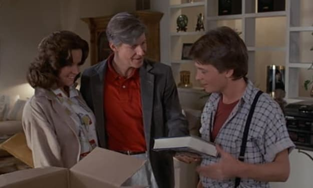 The Original 'Back to the Future' Screenplay Confirms George McFly Did Know About Marty's Time Traveling
