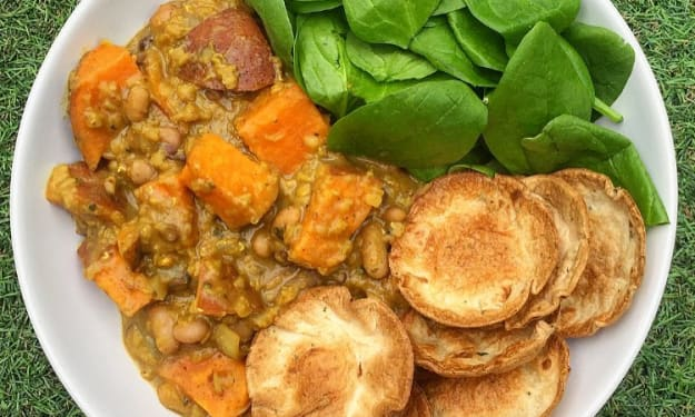 Vegan Sweet Potato and Lentil Curry