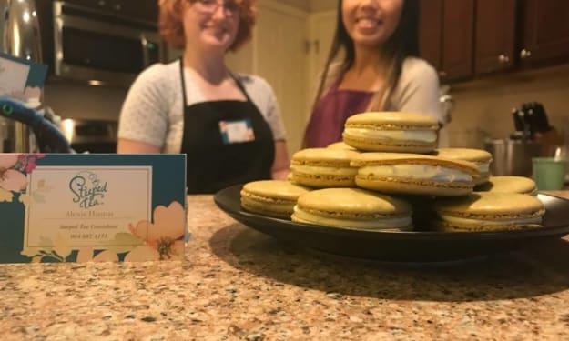 The Ginger Tea Reviews: Vanilla Matcha Macarons!