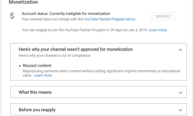 """How Smaller YouTube Channels Are Being Demonetized for """"Reused Content"""""""