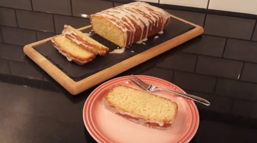 Lemon and Lime Double Drizzle Cake by Millennial Hunter Gatherer