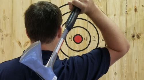 Finally! Here's Relief from Stress by Playing Axe Throwing