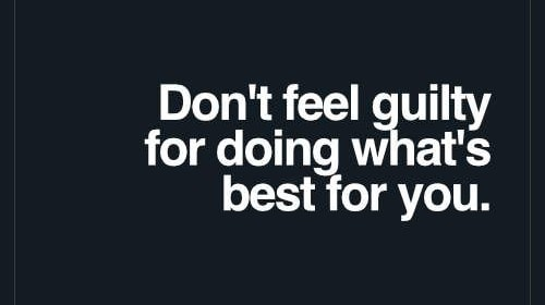 You Got to Do What's Best for You!