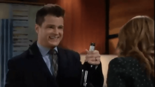 Kyle and Summer Toast to Success on 'The Young and the Restless'
