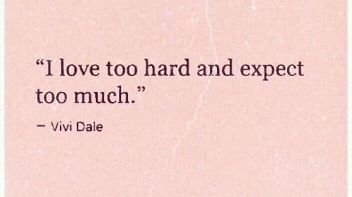 Poem: I Love too Hard