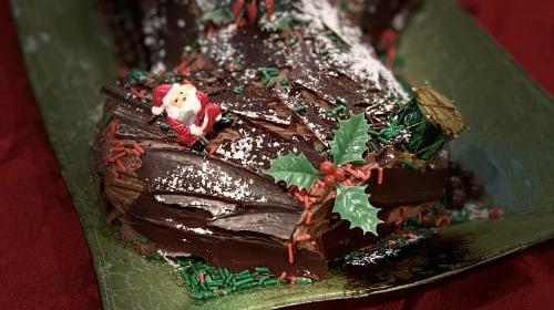 Chocolate Covered Log Cake Anyone?