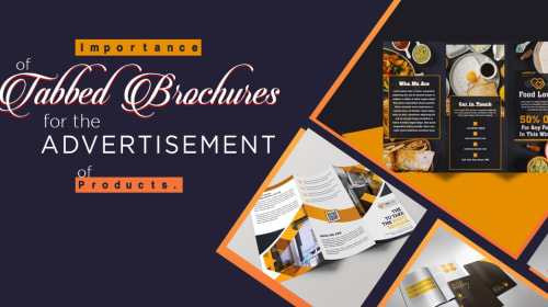 Importance of tabbed brochures for the advertisement of products.