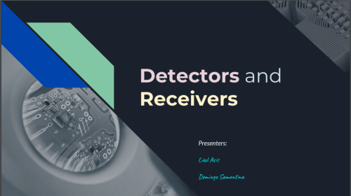 Fibers and Integrated Optics: Detectors and Receivers