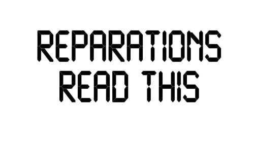 About Reparations
