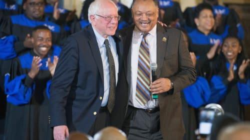 Jesse Jackson Disses 'Moderate' Joe Biden, Endorses Bernie Sanders