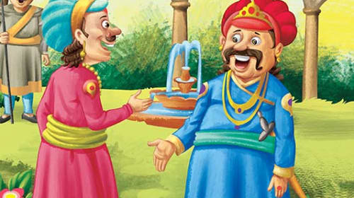 Akbar and Birbal stories For Kids of Wisdom in the pitcher