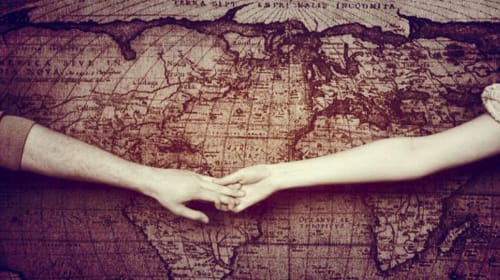 Long distance friendship turned relationship