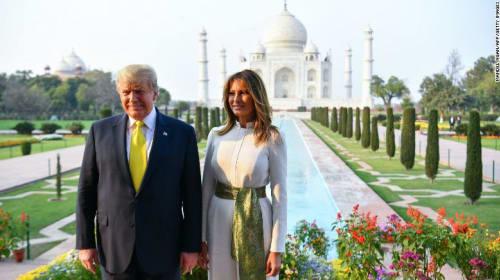 President Trump visit to India last month