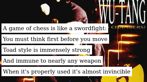Writing a poem is like a sword fight