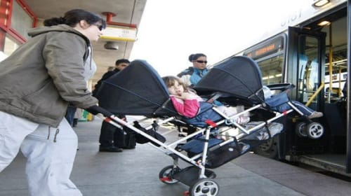 Strollers Should be Banned on Public Transportation During Peak Hours