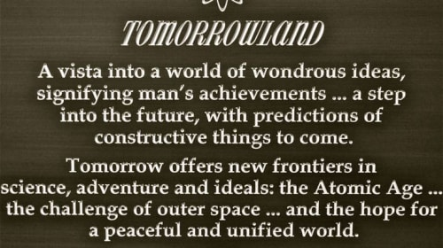 The Tomorrowland Problem:Part 1