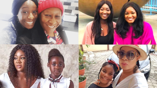 12 Nigerian Celebrities With Their Look Alike Daughters.