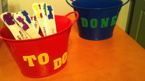 DIY Chore Buckets for Kids