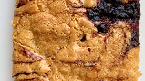 How Do You Make a Peanut Butter & Jelly Sandwich Better? Blondies.