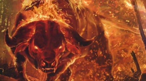 Creepy Creatures and Myths #3: The Aatxe: Fiery, Shapeshifting Bull of Basque Mythology