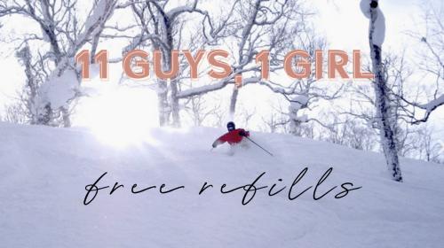 11 Guys, 1 Girl, & Free Refills.